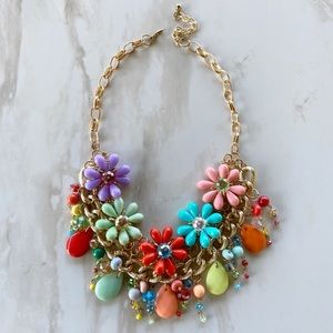 Handmade Floral Statement Necklace